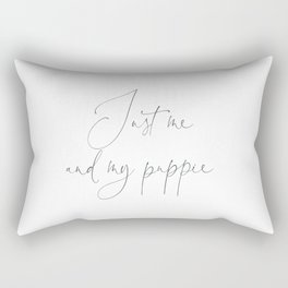 Just me and my puppie, Gift duvet cover fit for a Queen Rectangular Pillow