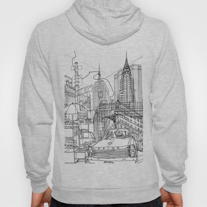 New York! B&W Hoody