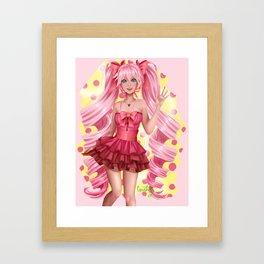 Cute & Pink Framed Art Print