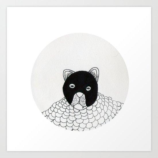 blur cat Art Print
