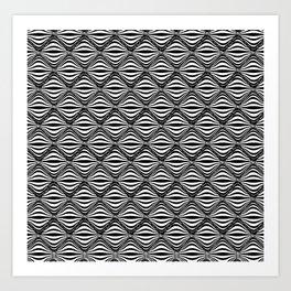 Warp Field (B&W) Art Print