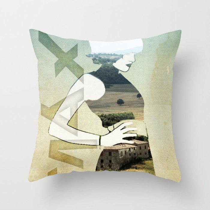 Maxii girl 02 Throw Pillow