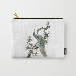 Turquoise Peacock Carry-All Pouch
