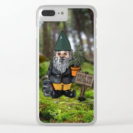 Gnome Grown Clear iPhone Case