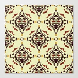 pattern with Tribal mask ethnic Canvas Print