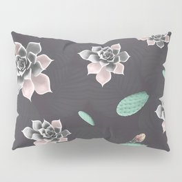 Succulents and cactus pattern Pillow Sham