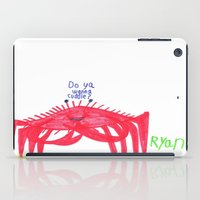 cuddle iPad Cases featuring Wanna Cuddle? by Ryan van Gogh
