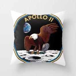 Apollo 11 insignia Throw Pillow