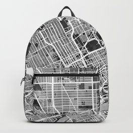 Detroit Michigan City Map Backpack