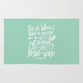Romans 6: 23 x Mint Rug