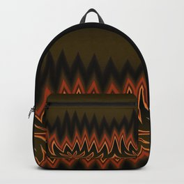 Fractal Tribal Art in Autumn Backpack