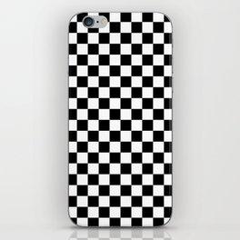 Checker (Black & White Pattern) iPhone Skin