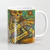 drums Mugs featuring Death Drums by Sherdeb Akadan