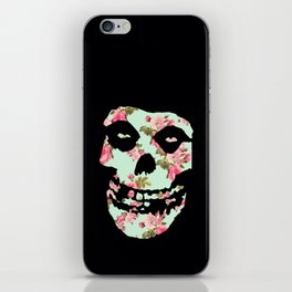 Green with Pink Rose Misfit  iPhone Skin