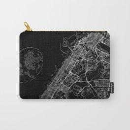 Dubai Black Map Carry-All Pouch