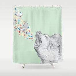 Bear Books Shower Curtain