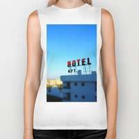 budapest hotel Biker Tanks featuring Hotel by Elliott Kemp Photography