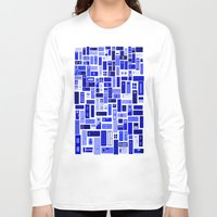 doors Long Sleeve T-shirts featuring Doors - Blues by Finlay McNevin