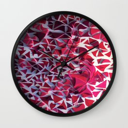 Confetti- Modern Abstract Mixed Media Collage Wall Clock