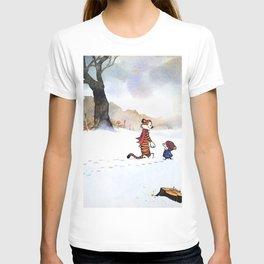 calvin hobbes snow T-shirt