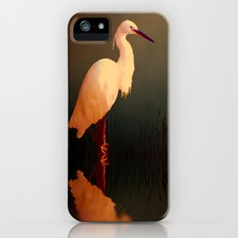 Midnight Egret iPhone Case