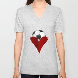 Love Soccer Unisex V-Neck