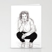 coconutwishes Stationery Cards featuring Cute Harry by Coconut Wishes