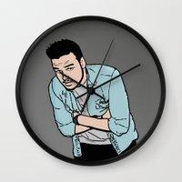 liam payne Wall Clocks featuring Liam Payne by 90's Class