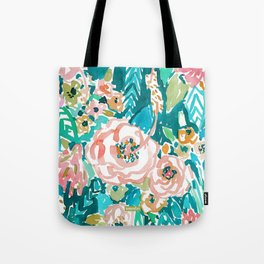 SUMMER IN MAUI Hibiscus Floral Tote Bag