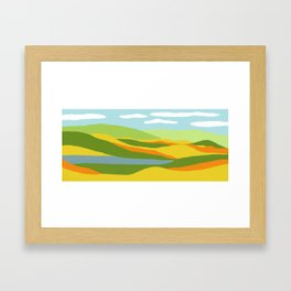 Moutains and River in Fall Framed Art Print