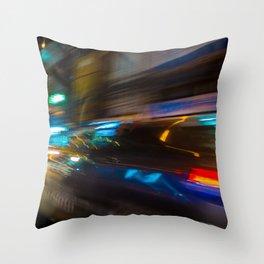 Bangkok Traffic Blur Throw Pillow