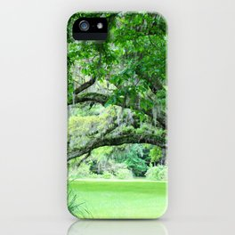 Oak Tree with Spanish Moss iPhone Case