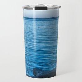 calm blue sea Travel Mug