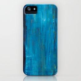 blue vertical iPhone Case