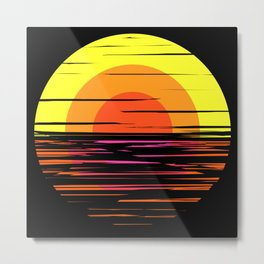 summer sunset & sea Metal Print