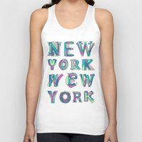 nyc Tank Tops featuring NYC by Fimbis