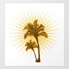 Tropical Hot Day Art Print