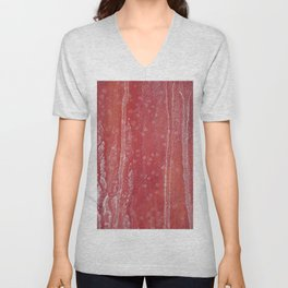 abstract snowing in the forest Unisex V-Neck