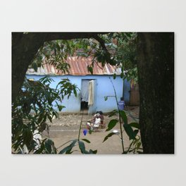 Village Life in Haiti Canvas Print