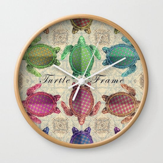 Turtle Frame Wall Clock