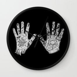 Contrast of Hands Wall Clock