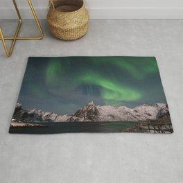 Northern Lights Over Lofoten Rug