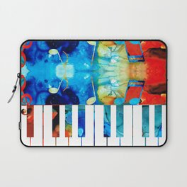 Colorful Piano Art by Sharon Cummings Laptop Sleeve