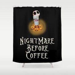 Dunkin Donuts NightMare Before Coffee Shower Curtain