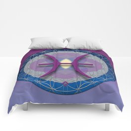 Flower of Life PISCES Astrology Design Comforters