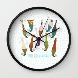 Party Like A Mermaid Wall Clock