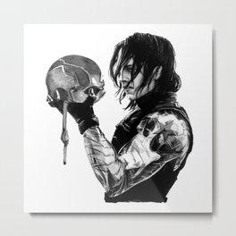 Mask Metal Print