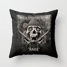 Royal Straight Flush Throw Pillow