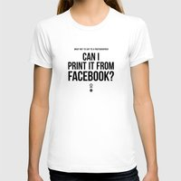 facebook T-shirts featuring Facebook by zerouno