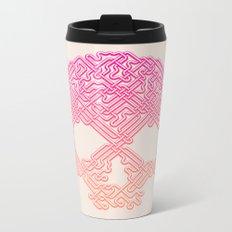 Labyrinthine Skull - Tropical Metal Travel Mug